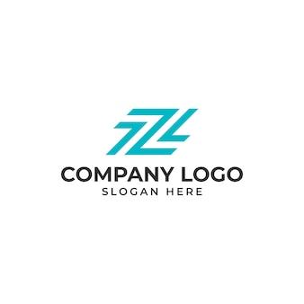 Buchstabe z logo vorlage vektor