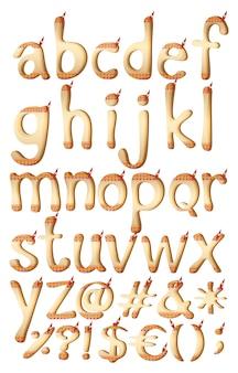 Buchstaben des alphabets mit indischen kunstwerken