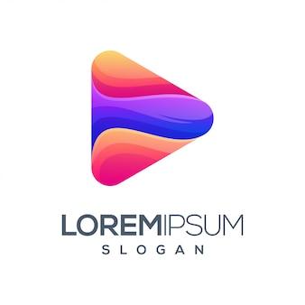 Buchstaben dreieck inspiration farbverlauf logo