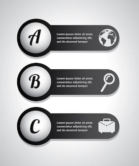 Buchstaben infografiken