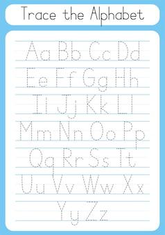 Buchstaben nachzeichnen schreibübungen arbeitsblatt für kinder nachzeichnen