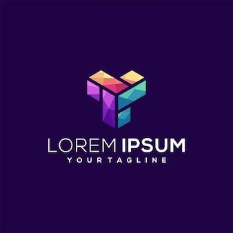 Buchstaben- und gradienten-logo