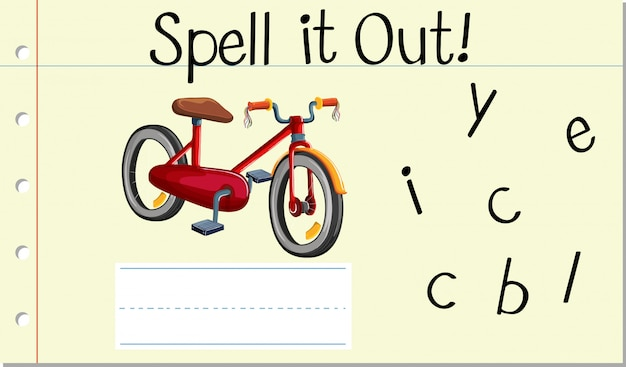 Buchstabiere es fahrrad aus