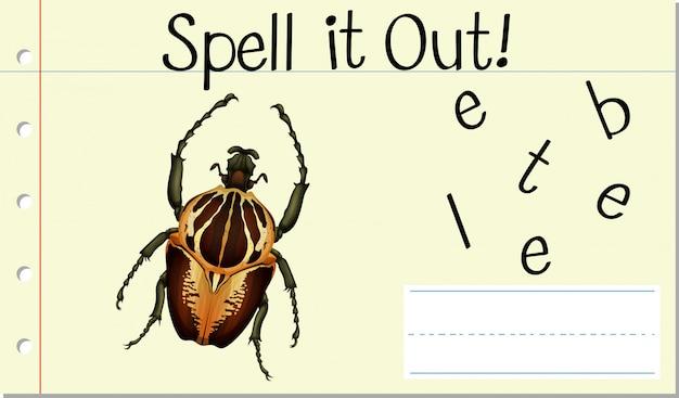 Buchstabiere es käfer