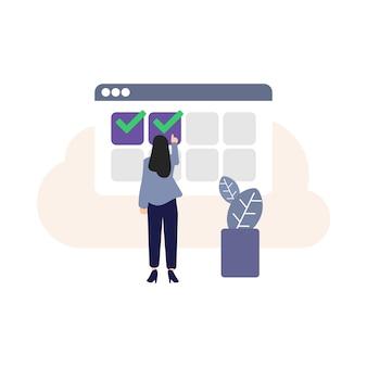 Buchung, online-buchungssymbol, computergrafik, auswahlsymbol, reservierung vornehmen, bestellung, erwachsene, menschliche hand, online-shopping für damen, personen