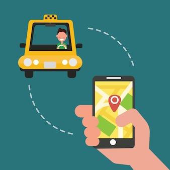 Buchung taxi über mobile app