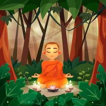 Buddha-flache abbildung