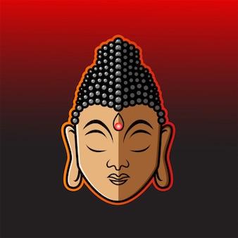 Buddha kopf maskottchen