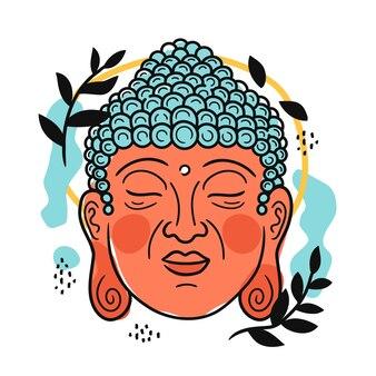 Buddha-porträt im skandinavischen stil