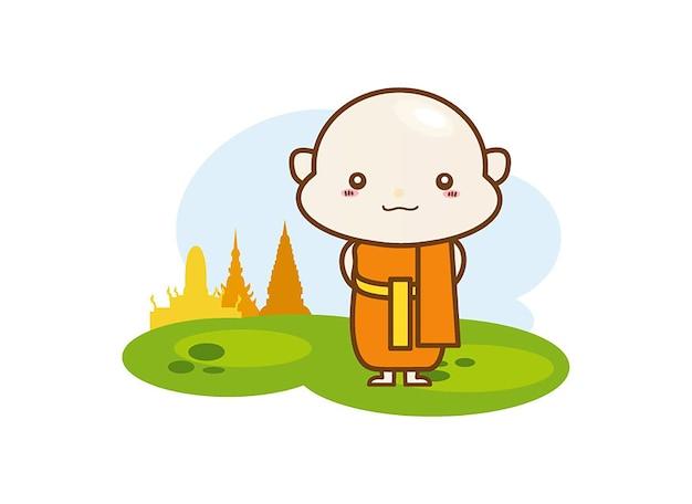 Buddhistischer mönch charakter