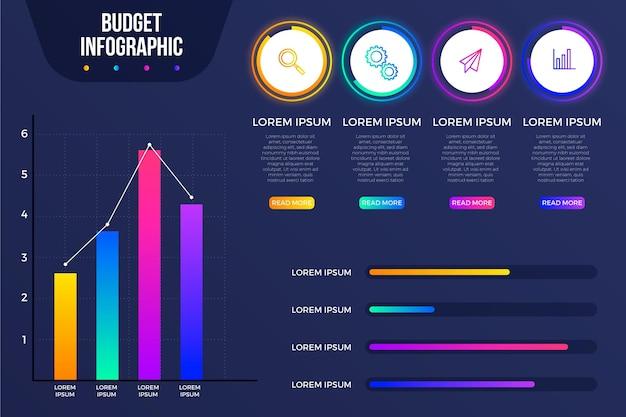 Budget infografik konzept