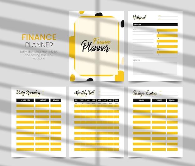 Budgetplaner täglicher ausgaben-tracker finanzplaner spar-tracker monatlicher rechnungs-tracker kdp