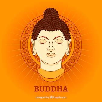 Budha darstellung mit flachem design