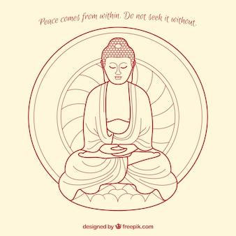 Budha-komposition mit zitat
