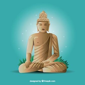 Budha-statue mit realistischem design