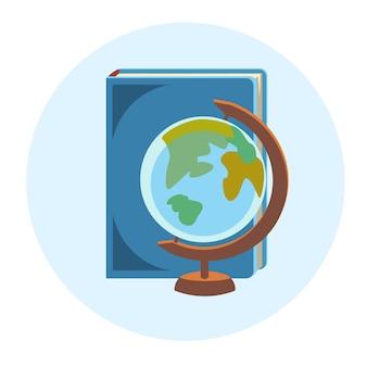 Bücher globe school geographie bildung bunte web icon