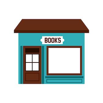 Bücher speichern gebäude symbol