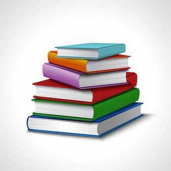 Bücher stapel realistisch