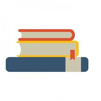 Bücher stapelten sich