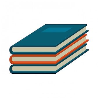 Bücher stapelten symbol
