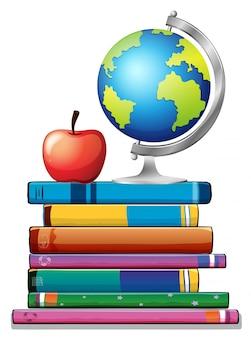 Bücher und globus