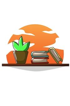 Bücher und pflanzen