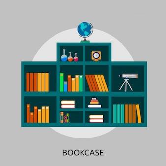 Bücherregal hintergrund-design