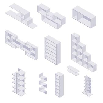Bücherregal isometrisch