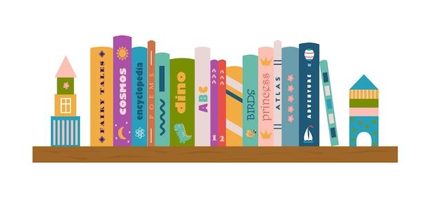 Bücherregal mit kinderbüchern literatur für kinder lesen von kindern