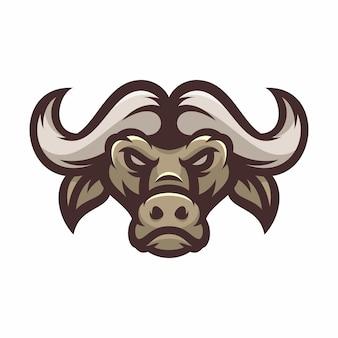 Büffel - vektorlogo / ikonenillustrationsmaskottchen