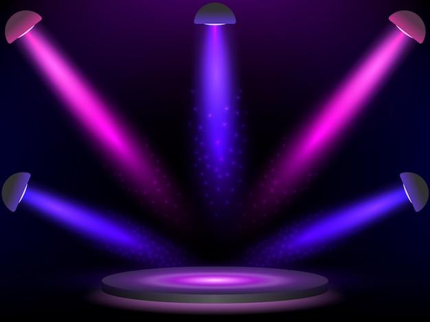 Bühne mit bunten lichtern.