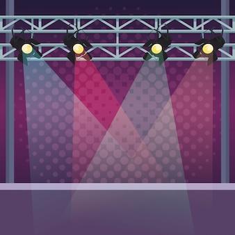 Bühne mit lichtern