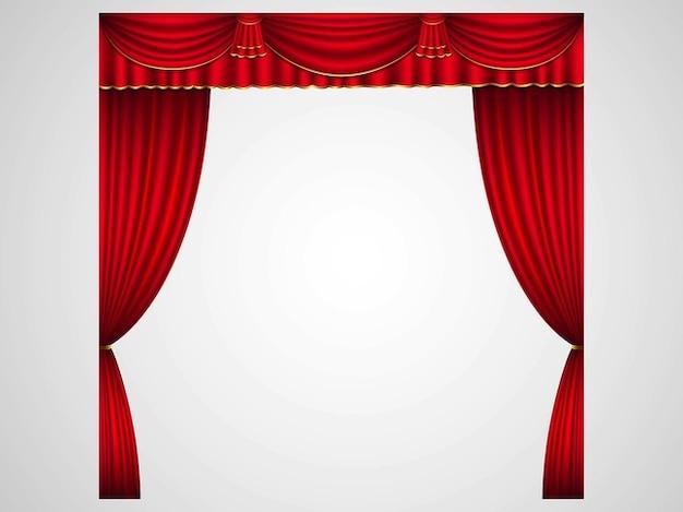 Bühne vorhänge in rot