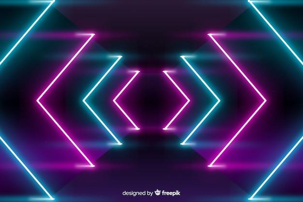Bühnenhintergrund mit neonlichtern