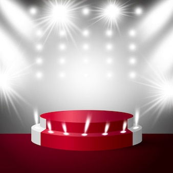 Bühnenpodest mit beleuchtung