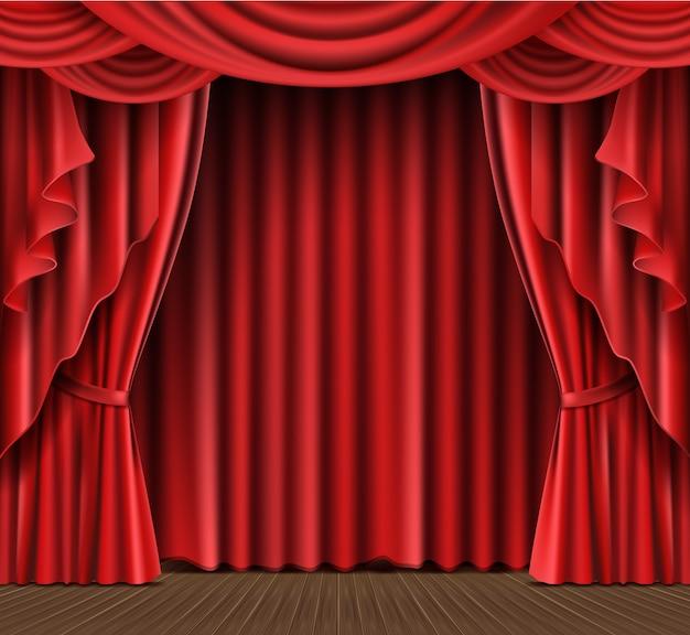 Bühnenvorhang realistisch
