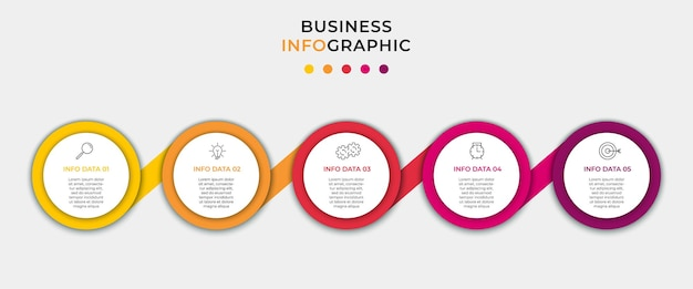 Bündel business-infografiken mit prozessdiagramm flussdiagramm info-diagramm