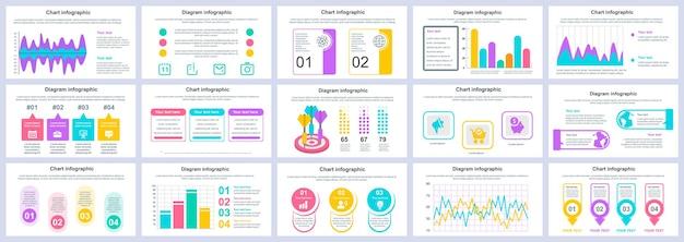 Bündel business und finanzen infografiken präsentation folien vorlage