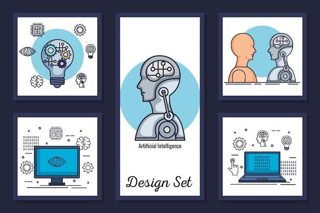 Bündel von designs intelligenz künstlich