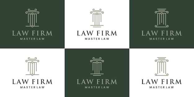 Bündeln sie anwaltskanzlei, anwalt, justiz, anwaltslogo-design