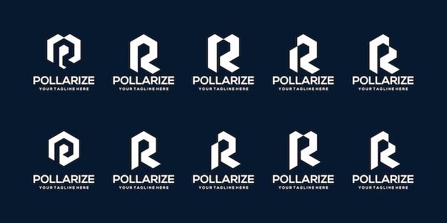Bündeln sie fette monogramm-anfangsbuchstaben-logo-vorlage