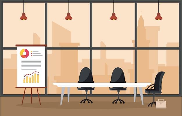 Büro-arbeitsplatz konferenzsaal business flat
