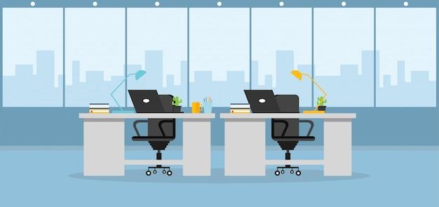 Büro, das eine designvektorillustration lernt und verwendet
