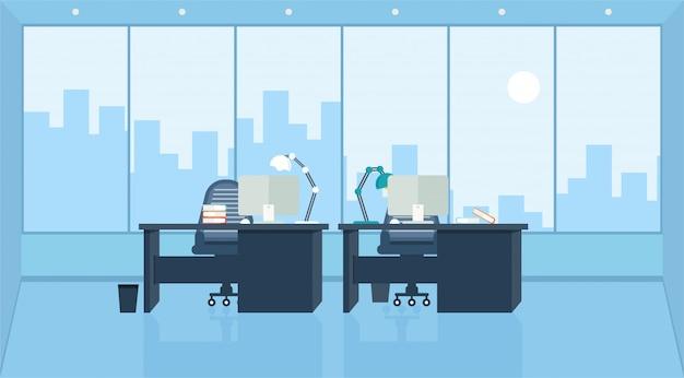 Büro, das lernt und unterrichtet, um unter verwendung einer designprogramm-vektorillustration zu arbeiten
