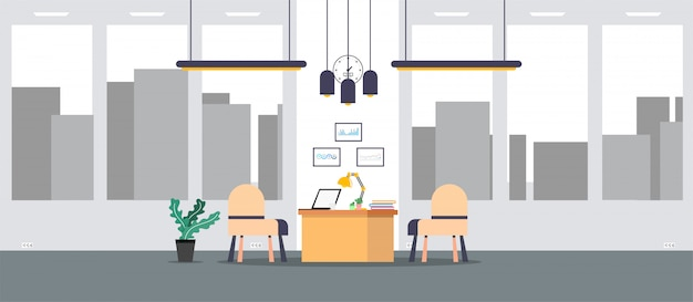 Büro des lernens und lehrens, um mit illustration, programm zu arbeiten
