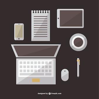 Büro freien flach grafische elemente