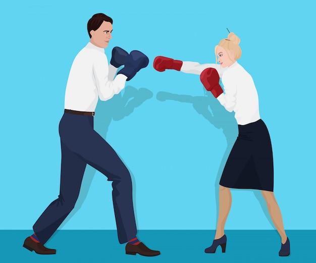 Büro geschäftsleute boxen