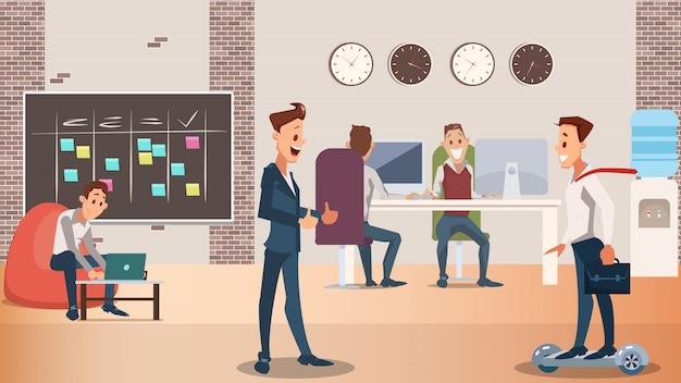Büro-gruppe kreative leute arbeiten zusammen
