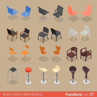 Büro home bar restaurant möbel set stuhl sitz sessel hocker lounge element wohnung kreative sammlung von innenobjekten.