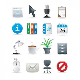 Büro-ikonen-sammlung